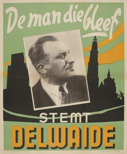 Affiche électorale 'Stem Delwaide'
